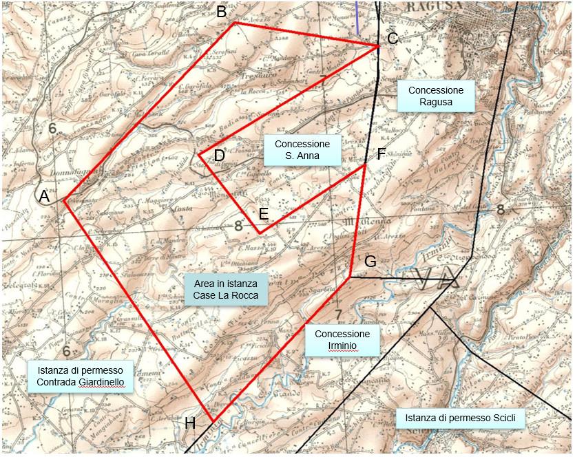 Case la Rocca exploration permit map