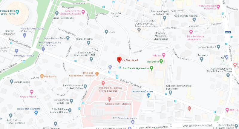 Indicazioni stradali sede direzionale Irminio