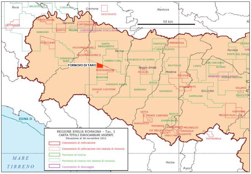 Mappa Fornovo di Taro