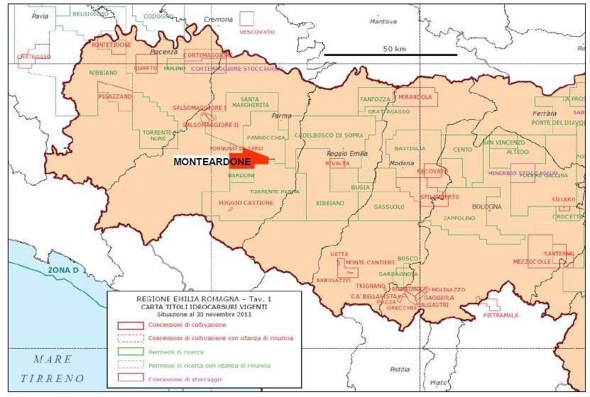 Mappa Monteardone