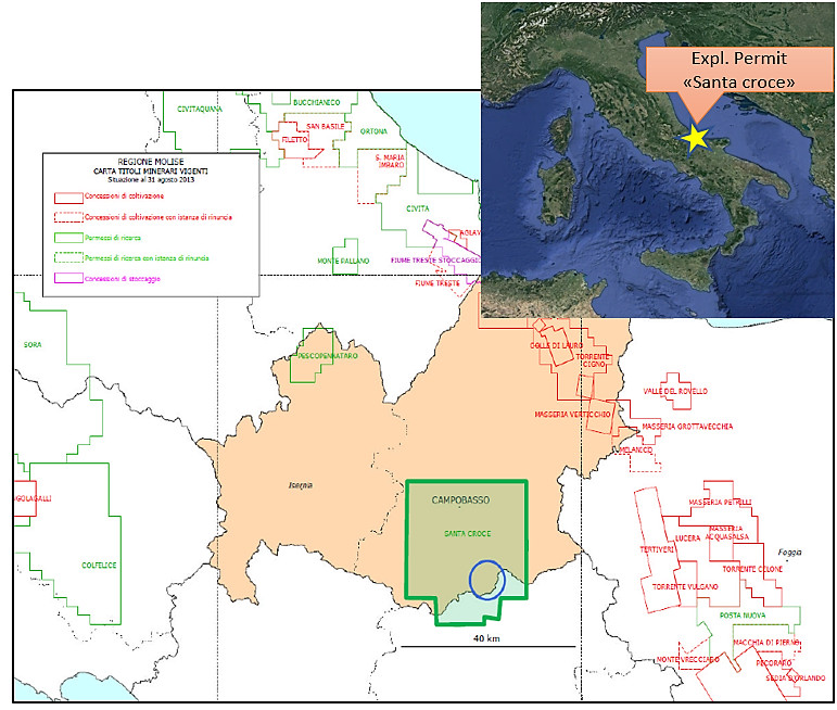 Santa Croce Exploration Permit map