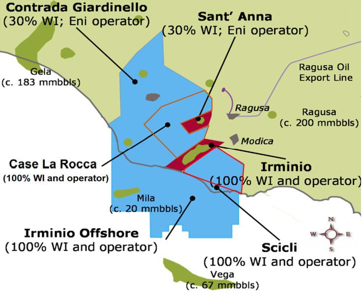 Scicli Exploration Permit map